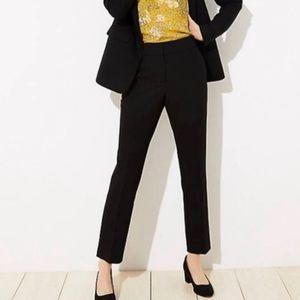 Ann Taylor Black Slim Cropped Dress Pants Sz 8